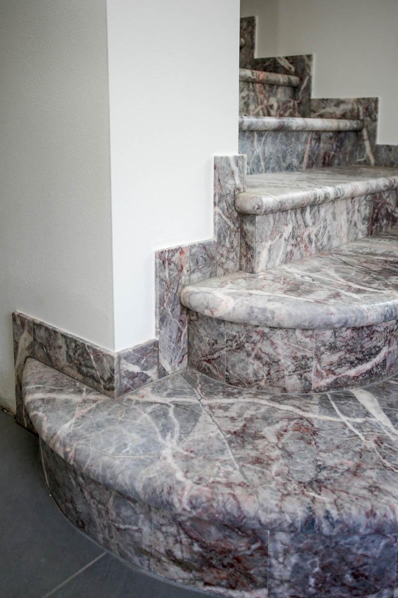 Scala In Marmo Nero lavori - lagorai pietre